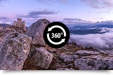 Panorami a 360° di Rocca Calascio